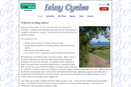 Link to Islay Cycles website